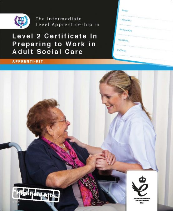 Level 2 Certificate in Preparing to work in Adult Social Care
