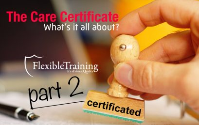 The Care Certificate – What's all about? Part 2…